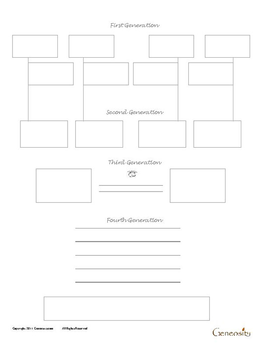Four Sibling Four Generation Genealogy Form