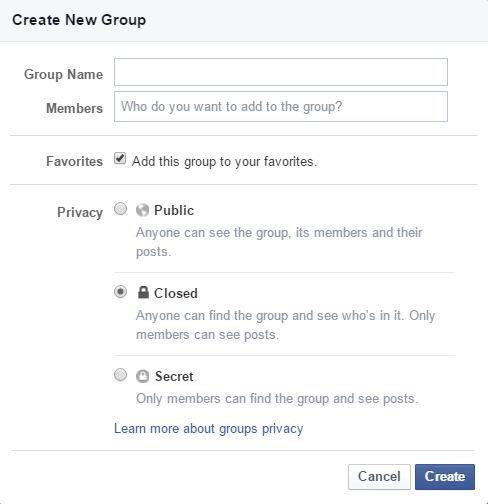 create group window