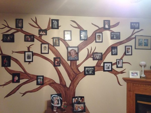 wall tree family photo display