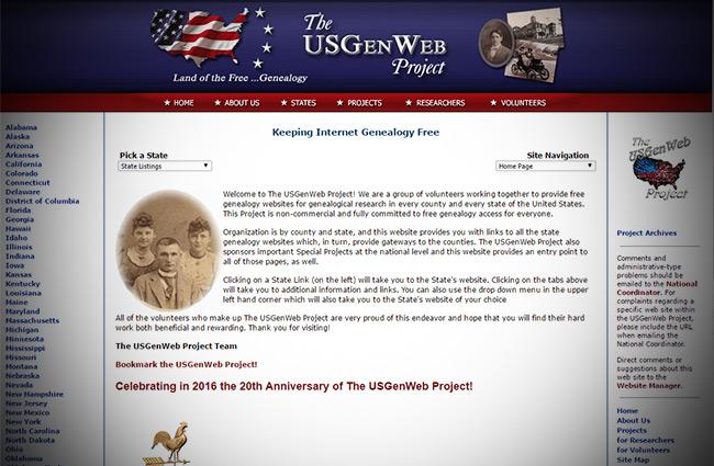 U.S. GenWeb Project